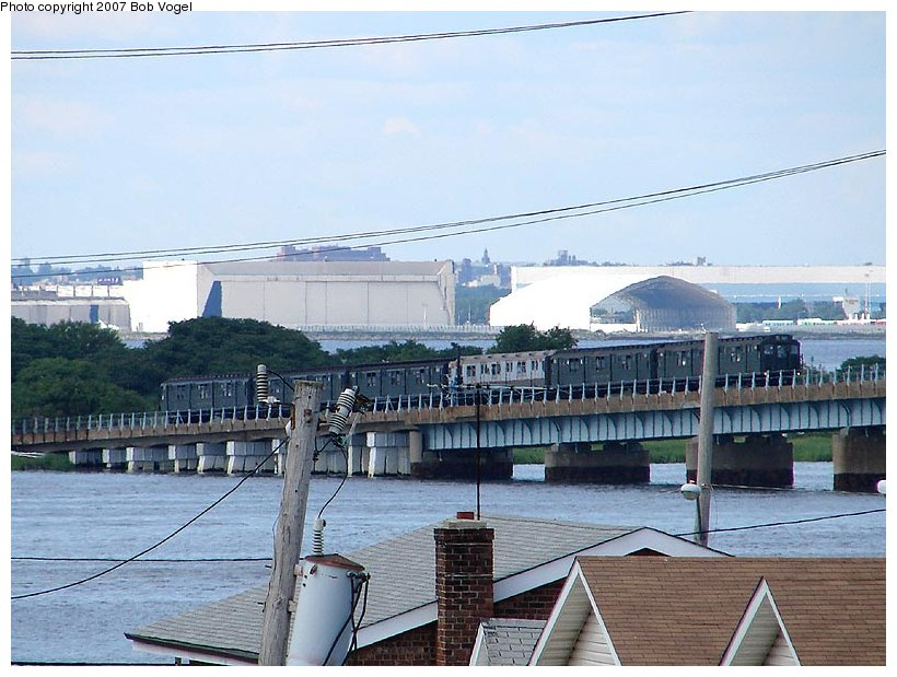 (113k, 820x619)<br><b>Country:</b> United States<br><b>City:</b> New York<br><b>System:</b> New York City Transit<br><b>Line:</b> IND Rockaway<br><b>Location:</b> North Channel Bridge <br><b>Route:</b> Fan Trip<br><b>Photo by:</b> Bob Vogel<br><b>Date:</b> 7/22/2007<br><b>Viewed (this week/total):</b> 0 / 2118