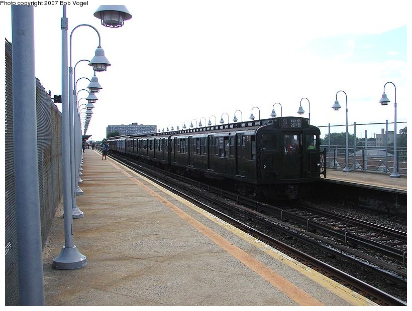 (115k, 820x620)<br><b>Country:</b> United States<br><b>City:</b> New York<br><b>System:</b> New York City Transit<br><b>Line:</b> IND Rockaway<br><b>Location:</b> Beach 90th Street/Holland <br><b>Route:</b> Fan Trip<br><b>Car:</b> R-1 (American Car & Foundry, 1930-1931) 381 <br><b>Photo by:</b> Bob Vogel<br><b>Date:</b> 7/22/2007<br><b>Viewed (this week/total):</b> 0 / 1706