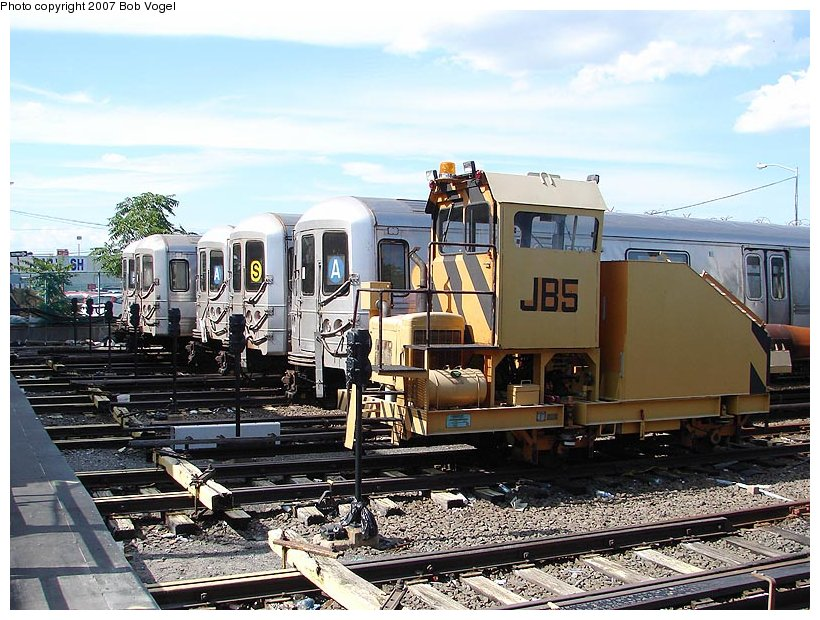 (141k, 820x620)<br><b>Country:</b> United States<br><b>City:</b> New York<br><b>System:</b> New York City Transit<br><b>Location:</b> Rockaway Park Yard<br><b>Car:</b> Snowblower JB5 <br><b>Photo by:</b> Bob Vogel<br><b>Date:</b> 7/22/2007<br><b>Viewed (this week/total):</b> 0 / 2526