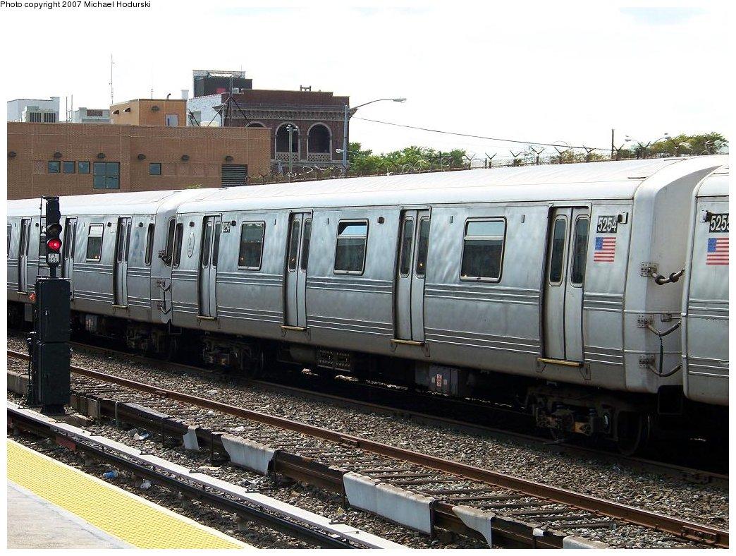 (220k, 1044x788)<br><b>Country:</b> United States<br><b>City:</b> New York<br><b>System:</b> New York City Transit<br><b>Location:</b> Rockaway Park Yard<br><b>Car:</b> R-44 (St. Louis, 1971-73) 5254 <br><b>Photo by:</b> Michael Hodurski<br><b>Date:</b> 7/22/2007<br><b>Viewed (this week/total):</b> 0 / 1539