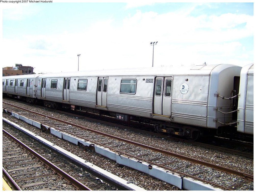 (220k, 1044x788)<br><b>Country:</b> United States<br><b>City:</b> New York<br><b>System:</b> New York City Transit<br><b>Location:</b> Rockaway Park Yard<br><b>Car:</b> R-44 (St. Louis, 1971-73) 5255 <br><b>Photo by:</b> Michael Hodurski<br><b>Date:</b> 7/22/2007<br><b>Viewed (this week/total):</b> 0 / 1951