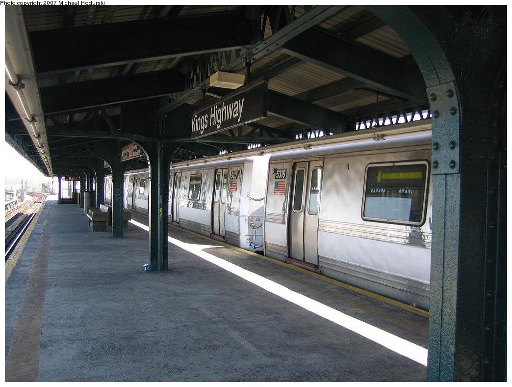 (163k, 1044x788)<br><b>Country:</b> United States<br><b>City:</b> New York<br><b>System:</b> New York City Transit<br><b>Line:</b> BMT Brighton Line<br><b>Location:</b> Kings Highway <br><b>Car:</b> R-44 (St. Louis, 1971-73) 5317 <br><b>Photo by:</b> Michael Hodurski<br><b>Date:</b> 4/19/2006<br><b>Viewed (this week/total):</b> 1 / 2399