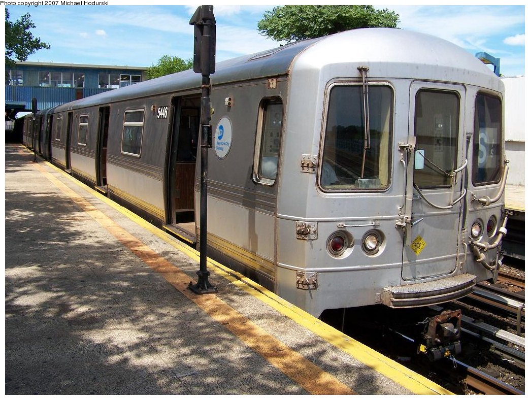 (239k, 1044x788)<br><b>Country:</b> United States<br><b>City:</b> New York<br><b>System:</b> New York City Transit<br><b>Line:</b> IND Rockaway<br><b>Location:</b> Broad Channel <br><b>Route:</b> S<br><b>Car:</b> R-44 (St. Louis, 1971-73) 5446 <br><b>Photo by:</b> Michael Hodurski<br><b>Date:</b> 7/22/2007<br><b>Viewed (this week/total):</b> 2 / 1608