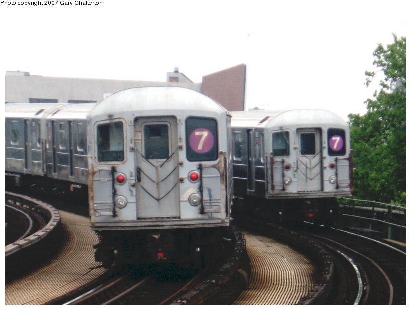 (85k, 820x620)<br><b>Country:</b> United States<br><b>City:</b> New York<br><b>System:</b> New York City Transit<br><b>Line:</b> IRT Flushing Line<br><b>Location:</b> 46th Street/Bliss Street <br><b>Route:</b> 7<br><b>Car:</b> R-62A (Bombardier, 1984-1987)  1810/1835 <br><b>Photo by:</b> Gary Chatterton<br><b>Date:</b> 7/5/2007<br><b>Viewed (this week/total):</b> 1 / 2017