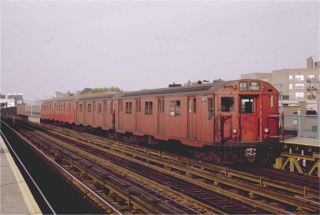 (248k, 1024x689)<br><b>Country:</b> United States<br><b>City:</b> New York<br><b>System:</b> New York City Transit<br><b>Line:</b> BMT Astoria Line<br><b>Location:</b> 30th/Grand Aves. <br><b>Route:</b> RR<br><b>Car:</b> R-30 (St. Louis, 1961) 8493 <br><b>Photo by:</b> Joe Testagrose<br><b>Date:</b> 9/13/1970<br><b>Viewed (this week/total):</b> 0 / 2255