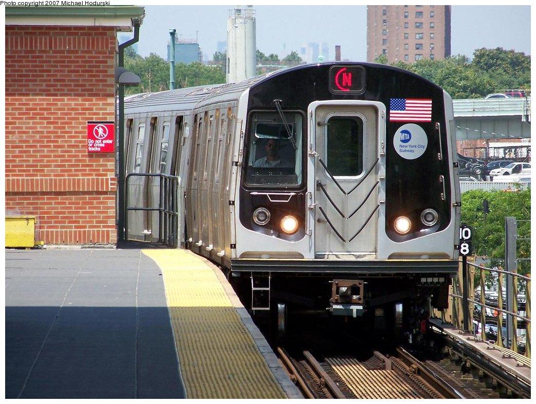 (224k, 1044x788)<br><b>Country:</b> United States<br><b>City:</b> New York<br><b>System:</b> New York City Transit<br><b>Location:</b> Coney Island/Stillwell Avenue<br><b>Route:</b> N<br><b>Car:</b> R-160B (Kawasaki, 2005-2008)  8713 <br><b>Photo by:</b> Michael Hodurski<br><b>Date:</b> 7/26/2007<br><b>Viewed (this week/total):</b> 2 / 2154