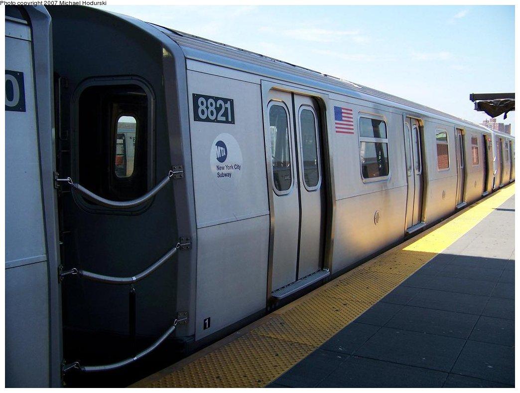 (143k, 1044x788)<br><b>Country:</b> United States<br><b>City:</b> New York<br><b>System:</b> New York City Transit<br><b>Location:</b> Coney Island/Stillwell Avenue<br><b>Route:</b> N<br><b>Car:</b> R-160B (Kawasaki, 2005-2008)  8821 <br><b>Photo by:</b> Michael Hodurski<br><b>Date:</b> 7/26/2007<br><b>Viewed (this week/total):</b> 1 / 2600