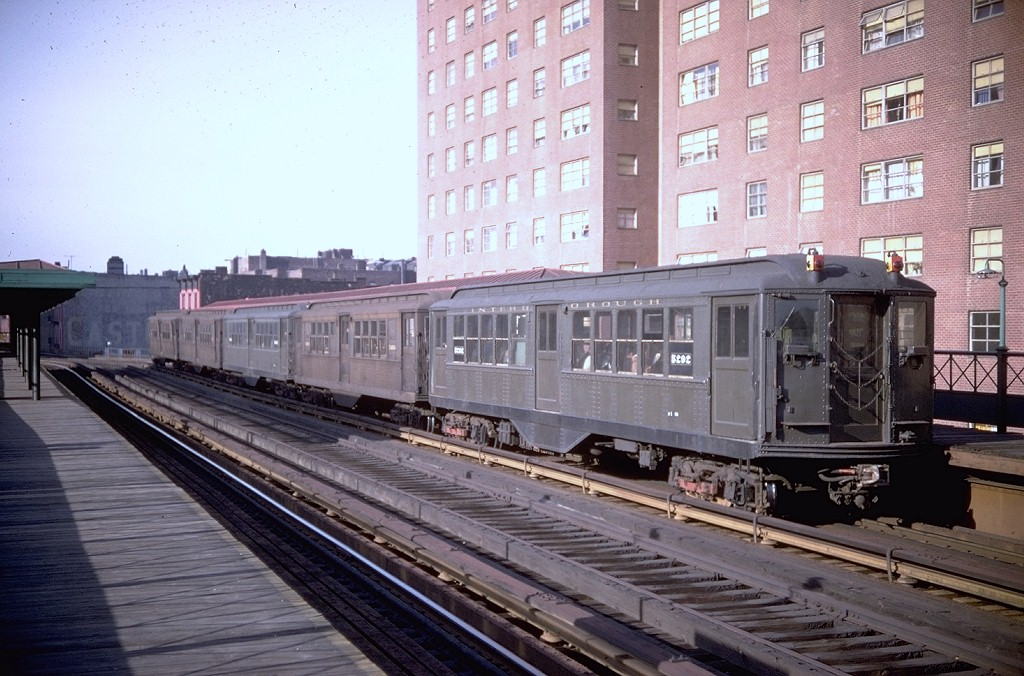 (207k, 1024x676)<br><b>Country:</b> United States<br><b>City:</b> New York<br><b>System:</b> New York City Transit<br><b>Line:</b> 3rd Avenue El<br><b>Location:</b> 169th Street <br><b>Route:</b> Fan Trip<br><b>Car:</b> Low-V (Museum Train) 5292 <br><b>Photo by:</b> Doug Grotjahn<br><b>Collection of:</b> Joe Testagrose<br><b>Date:</b> 4/6/1968<br><b>Viewed (this week/total):</b> 1 / 2837