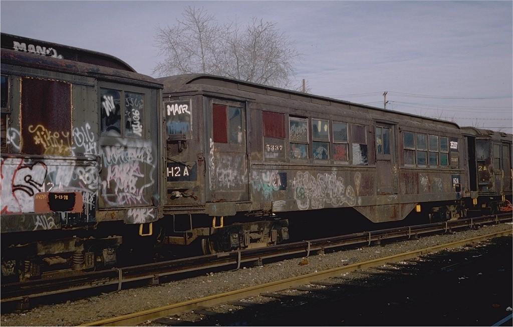 (185k, 1024x654)<br><b>Country:</b> United States<br><b>City:</b> New York<br><b>System:</b> New York City Transit<br><b>Location:</b> Westchester Yard<br><b>Car:</b> Low-V 35337 (ex-5337)<br><b>Photo by:</b> Steve Zabel<br><b>Collection of:</b> Joe Testagrose<br><b>Date:</b> 4/13/1978<br><b>Notes:</b> Work Motor 35337<br><b>Viewed (this week/total):</b> 0 / 3456