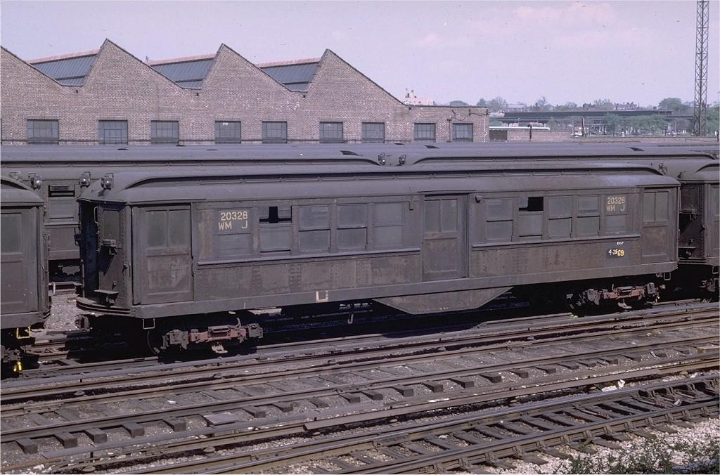 (228k, 1024x676)<br><b>Country:</b> United States<br><b>City:</b> New York<br><b>System:</b> New York City Transit<br><b>Location:</b> Westchester Yard<br><b>Car:</b> Low-V 20328 (ex-5404)<br><b>Photo by:</b> Joe Testagrose<br><b>Date:</b> 5/4/1969<br><b>Notes:</b> Work Motor 20328<br><b>Viewed (this week/total):</b> 1 / 2580