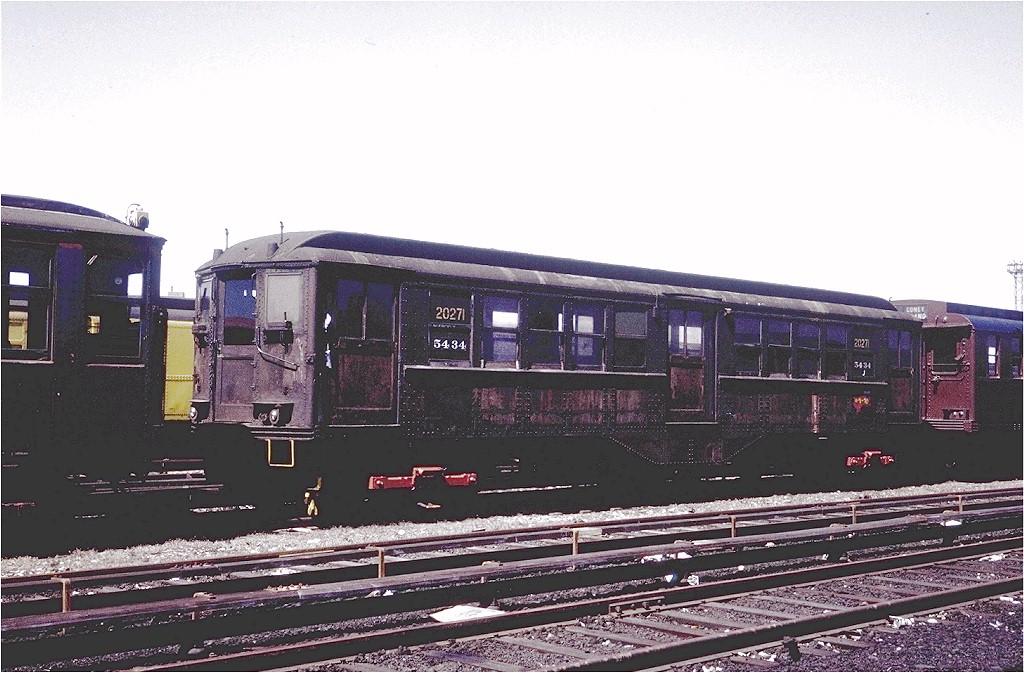 (195k, 1024x673)<br><b>Country:</b> United States<br><b>City:</b> New York<br><b>System:</b> New York City Transit<br><b>Location:</b> Coney Island Yard<br><b>Car:</b> Low-V 20271 (ex-5434)<br><b>Photo by:</b> Steve Zabel<br><b>Collection of:</b> Joe Testagrose<br><b>Date:</b> 4/8/1971<br><b>Viewed (this week/total):</b> 0 / 2470