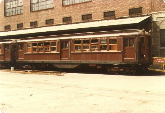 (47k, 696x475)<br><b>Country:</b> United States<br><b>City:</b> New York<br><b>System:</b> New York City Transit<br><b>Location:</b> 207th Street Yard<br><b>Car:</b> Low-V (Museum Train) 5443 <br><b>Photo by:</b> Joel G.<br><b>Date:</b> 9/13/1979<br><b>Viewed (this week/total):</b> 2 / 2302