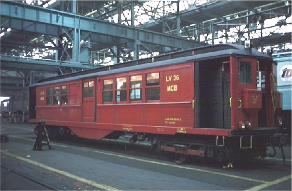 (144k, 1024x671)<br><b>Country:</b> United States<br><b>City:</b> New York<br><b>System:</b> New York City Transit<br><b>Location:</b> Coney Island Shop/Overhaul & Repair Shop<br><b>Car:</b> Low-V LV36 (ex-5457)<br><b>Photo by:</b> Doug Grotjahn<br><b>Collection of:</b> Joe Testagrose<br><b>Date:</b> 10/13/1968<br><b>Viewed (this week/total):</b> 3 / 4377