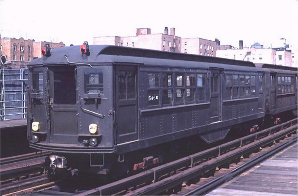 (134k, 1024x675)<br><b>Country:</b> United States<br><b>City:</b> New York<br><b>System:</b> New York City Transit<br><b>Line:</b> 3rd Avenue El<br><b>Location:</b> 204th Street <br><b>Route:</b> Fan Trip<br><b>Car:</b> Low-V (Museum Train) 5466 <br><b>Photo by:</b> Doug Grotjahn<br><b>Collection of:</b> Joe Testagrose<br><b>Date:</b> 3/31/1968<br><b>Viewed (this week/total):</b> 0 / 2810