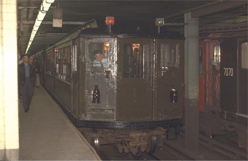 (134k, 1024x667)<br><b>Country:</b> United States<br><b>City:</b> New York<br><b>System:</b> New York City Transit<br><b>Line:</b> IRT West Side Line<br><b>Location:</b> Times Square/42nd Street <br><b>Route:</b> Fan Trip<br><b>Car:</b> Low-V (Museum Train) 5466 <br><b>Photo by:</b> Joe Testagrose<br><b>Date:</b> 4/25/1970<br><b>Viewed (this week/total):</b> 2 / 4811