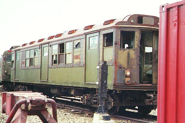 (118k, 600x400)<br><b>Country:</b> United States<br><b>City:</b> New York<br><b>System:</b> New York City Transit<br><b>Location:</b> Coney Island Yard-Museum Yard<br><b>Car:</b> Low-V Worlds Fair 5655 <br><b>Photo by:</b> Salaam Allah<br><b>Date:</b> 10/29/2000<br><b>Viewed (this week/total):</b> 2 / 9737