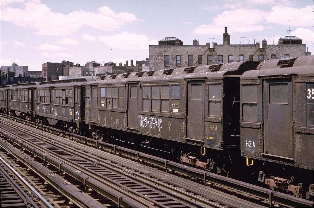 (246k, 1024x678)<br><b>Country:</b> United States<br><b>City:</b> New York<br><b>System:</b> New York City Transit<br><b>Line:</b> IRT White Plains Road Line<br><b>Location:</b> Intervale Avenue <br><b>Car:</b> Low-V Worlds Fair 5696 <br><b>Photo by:</b> Joe Testagrose<br><b>Date:</b> 5/6/1973<br><b>Viewed (this week/total):</b> 2 / 7217