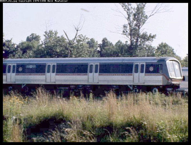 (64k, 660x500)<br><b>Country:</b> United States<br><b>City:</b> Philadelphia, PA<br><b>System:</b> PATCO<br><b>Location:</b> Lindenwold Yard <br><b>Car:</b> SOAC  <br><b>Photo by:</b> Bill Mosteller<br><b>Date:</b> 1977<br><b>Viewed (this week/total):</b> 8 / 9213