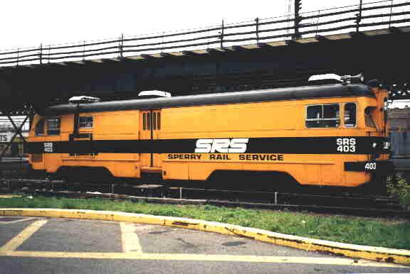 (19k, 576x386)<br><b>Country:</b> United States<br><b>City:</b> New York<br><b>System:</b> New York City Transit<br><b>Location:</b> Coney Island Yard<br><b>Car:</b> Sperry Rail Service  403 <br><b>Photo by:</b> Steve Kreisler<br><b>Viewed (this week/total):</b> 0 / 5144