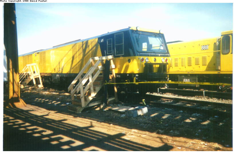 (147k, 824x538)<br><b>Country:</b> United States<br><b>City:</b> New York<br><b>System:</b> New York City Transit<br><b>Location:</b> Westchester Yard<br><b>Car:</b> R-137 Vacuum Cleaning Train  VT101-105 <br><b>Photo by:</b> David Foster<br><b>Date:</b> 1998<br><b>Viewed (this week/total):</b> 6 / 6719
