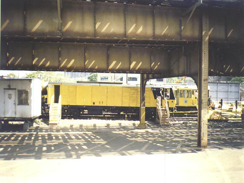 (84k, 800x600)<br><b>Country:</b> United States<br><b>City:</b> New York<br><b>System:</b> New York City Transit<br><b>Location:</b> Westchester Yard<br><b>Car:</b> R-137 Vacuum Cleaning Train  VT101-105 <br><b>Photo by:</b> Constantine Steffan<br><b>Date:</b> 9/12/1998<br><b>Viewed (this week/total):</b> 3 / 5061