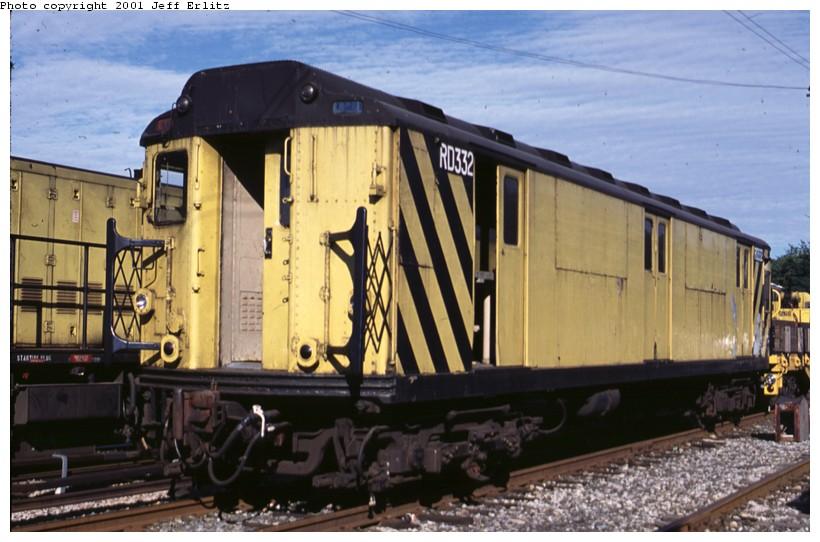 (117k, 820x542)<br><b>Country:</b> United States<br><b>City:</b> New York<br><b>System:</b> New York City Transit<br><b>Location:</b> 36th Street Yard<br><b>Car:</b> R-71 Rider Car (R-17/R-21/R-22 Rebuilds)  RD332 (ex-5833)<br><b>Photo by:</b> Jeff Erlitz<br><b>Date:</b> 7/7/2001<br><b>Viewed (this week/total):</b> 0 / 3298