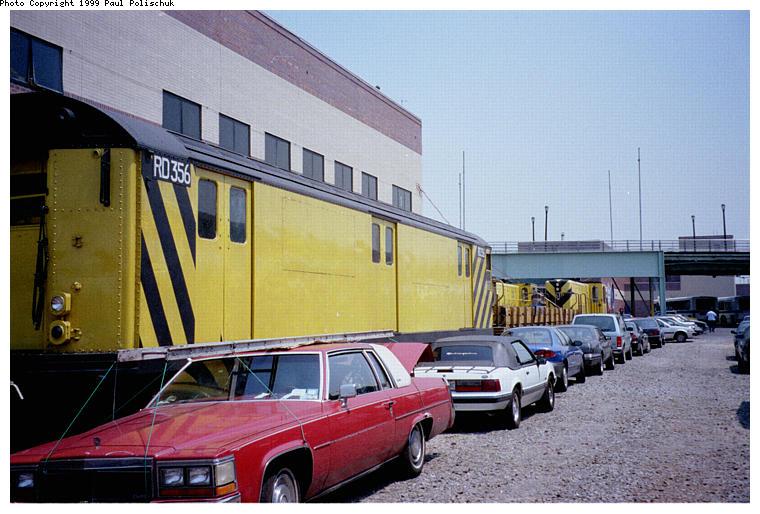 (86k, 760x514)<br><b>Country:</b> United States<br><b>City:</b> New York<br><b>System:</b> New York City Transit<br><b>Location:</b> Corona Yard<br><b>Car:</b> R-71 Rider Car (R-17/R-21/R-22 Rebuilds)  RD356 (ex-7327)<br><b>Photo by:</b> Paul Polischuk<br><b>Date:</b> 6/25/1999<br><b>Viewed (this week/total):</b> 1 / 3766