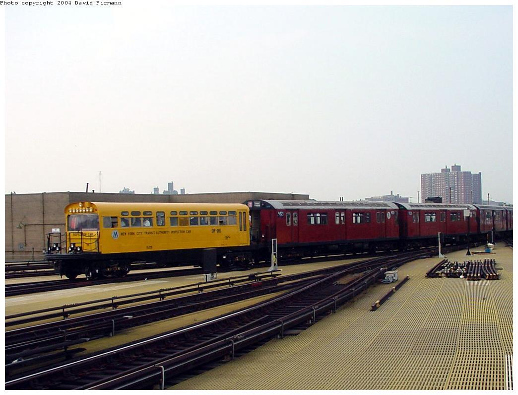 (110k, 1044x795)<br><b>Country:</b> United States<br><b>City:</b> New York<br><b>System:</b> New York City Transit<br><b>Location:</b> Coney Island/Stillwell Avenue<br><b>Route:</b> Fan Trip<br><b>Car:</b> Observation Car 0F116 <br><b>Photo by:</b> David Pirmann<br><b>Date:</b> 8/27/2000<br><b>Viewed (this week/total):</b> 2 / 5160