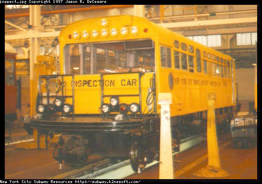 (50k, 540x379)<br><b>Country:</b> United States<br><b>City:</b> New York<br><b>System:</b> New York City Transit<br><b>Location:</b> Coney Island Shop/Overhaul & Repair Shop<br><b>Car:</b> Observation Car 0F116 <br><b>Photo by:</b> Jason R. DeCesare<br><b>Date:</b> 2/24/1996<br><b>Viewed (this week/total):</b> 1 / 5405