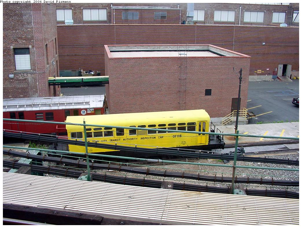 (199k, 1044x788)<br><b>Country:</b> United States<br><b>City:</b> New York<br><b>System:</b> New York City Transit<br><b>Location:</b> Coney Island Yard<br><b>Car:</b> Observation Car 0F116 <br><b>Photo by:</b> David Pirmann<br><b>Date:</b> 6/18/2000<br><b>Viewed (this week/total):</b> 3 / 5509