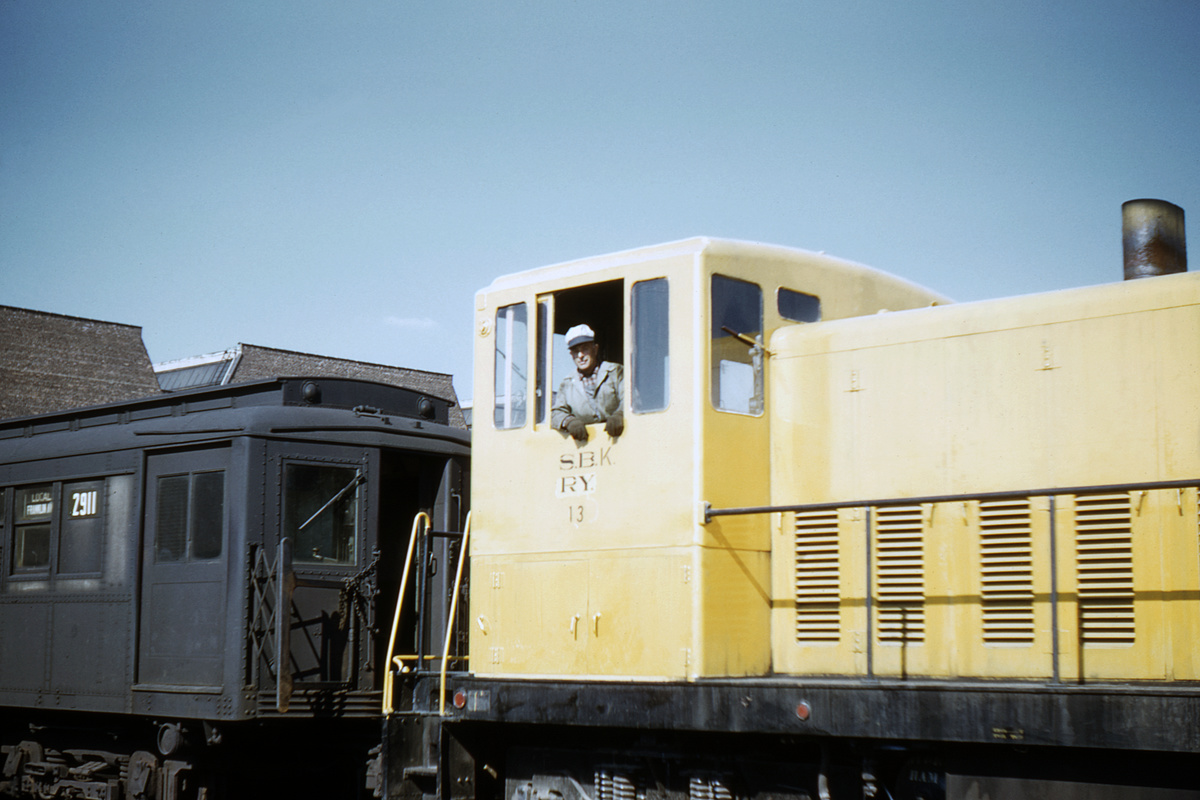 (265k, 1024x683)<br><b>Country:</b> United States<br><b>City:</b> New York<br><b>System:</b> New York City Transit<br><b>Location:</b> Coney Island Yard<br><b>Car:</b> GE 70T Locomotive (SBK)  13 <br><b>Collection of:</b> David Pirmann<br><b>Date:</b> 4/8/1961<br><b>Viewed (this week/total):</b> 0 / 3289