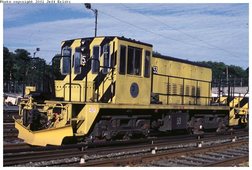 (128k, 820x554)<br><b>Country:</b> United States<br><b>City:</b> New York<br><b>System:</b> New York City Transit<br><b>Location:</b> 36th Street Yard<br><b>Car:</b> R-37 Locomotive  53 <br><b>Photo by:</b> Jeff Erlitz<br><b>Date:</b> 7/7/2001<br><b>Viewed (this week/total):</b> 2 / 3222