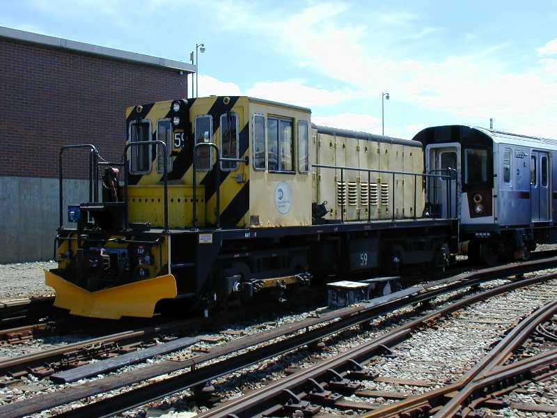 (65k, 800x600)<br><b>Country:</b> United States<br><b>City:</b> New York<br><b>System:</b> New York City Transit<br><b>Location:</b> 239th Street Yard<br><b>Car:</b> R-41 Locomotive  59 <br><b>Photo by:</b> Jeff Erlitz<br><b>Date:</b> 5/19/2002<br><b>Viewed (this week/total):</b> 2 / 4635