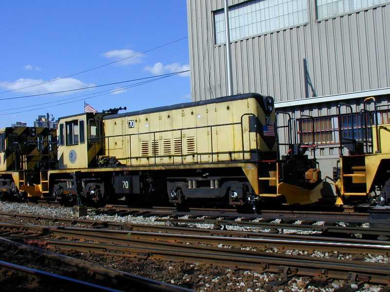 (66k, 800x600)<br><b>Country:</b> United States<br><b>City:</b> New York<br><b>System:</b> New York City Transit<br><b>Location:</b> Westchester Yard<br><b>Car:</b> R-47 Locomotive  70 <br><b>Photo by:</b> Jeff Erlitz<br><b>Date:</b> 5/19/2002<br><b>Viewed (this week/total):</b> 0 / 2862