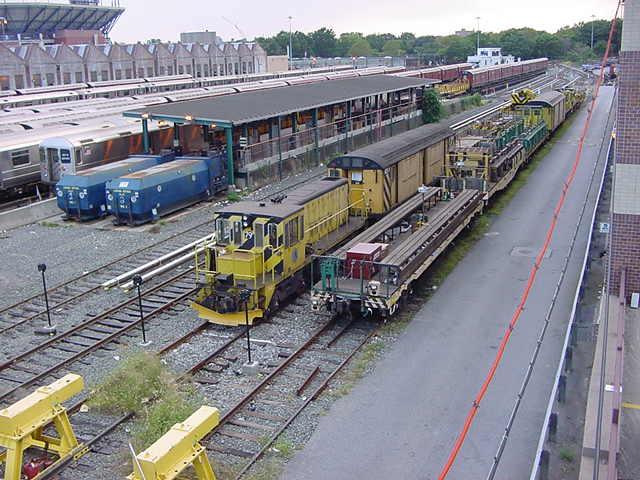 (59k, 640x480)<br><b>Country:</b> United States<br><b>City:</b> New York<br><b>System:</b> New York City Transit<br><b>Location:</b> Corona Yard<br><b>Car:</b> R-52 Locomotive  79 <br><b>Photo by:</b> Salaam Allah<br><b>Date:</b> 9/21/2002<br><b>Viewed (this week/total):</b> 3 / 3623