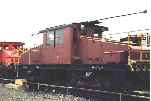 (14k, 576x386)<br><b>Country:</b> United States<br><b>City:</b> New York<br><b>System:</b> New York City Transit<br><b>Location:</b> Coney Island Yard-Museum Yard<br><b>Car:</b> SBK Steeplecab 7 <br><b>Photo by:</b> Steve Kreisler<br><b>Date:</b> 1998<br><b>Viewed (this week/total):</b> 0 / 2362