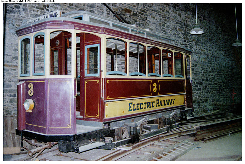 (118k, 781x522)<br><b>Country:</b> United States<br><b>City:</b> New York<br><b>System:</b> Brooklyn Trolley Museum <br><b>Car:</b>  3 <br><b>Photo by:</b> Paul Polischuk<br><b>Date:</b> 1998<br><b>Notes:</b> 1897 trolley<br><b>Viewed (this week/total):</b> 2 / 5236