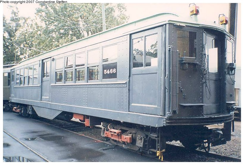 (123k, 820x555)<br><b>Country:</b> United States<br><b>City:</b> East Haven/Branford, Ct.<br><b>System:</b> Shore Line Trolley Museum <br><b>Car:</b> Low-V (Museum Train) 5466 <br><b>Photo by:</b> Constantine Steffan<br><b>Date:</b> 10/10/1998<br><b>Viewed (this week/total):</b> 0 / 2051