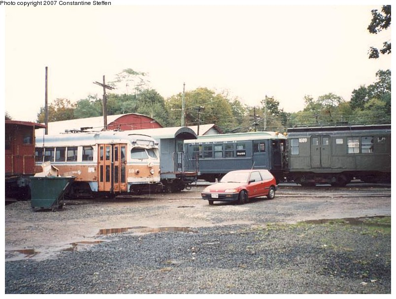 (116k, 804x608)<br><b>Country:</b> United States<br><b>City:</b> East Haven/Branford, Ct.<br><b>System:</b> Shore Line Trolley Museum <br><b>Photo by:</b> Constantine Steffan<br><b>Date:</b> 10/10/1998<br><b>Notes:</b> Philadelphia 18/NYC Supply Car 30127/Low-V 5466/R9 1689<br><b>Viewed (this week/total):</b> 3 / 4626