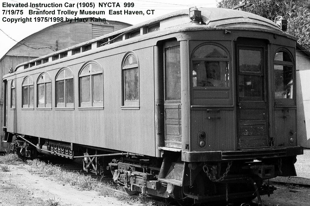 (157k, 1028x683)<br><b>Country:</b> United States<br><b>City:</b> East Haven/Branford, Ct.<br><b>System:</b> Shore Line Trolley Museum <br><b>Car:</b> BMT Elevated Gate Car 999 <br><b>Photo by:</b> Harv Kahn<br><b>Date:</b> 7/19/1975<br><b>Viewed (this week/total):</b> 11 / 3297