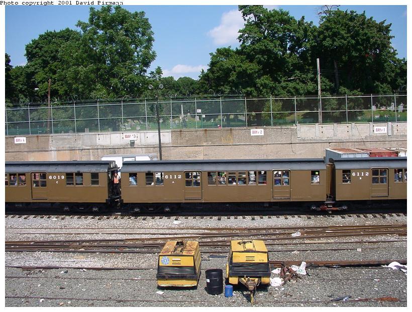 (129k, 820x620)<br><b>Country:</b> United States<br><b>City:</b> New York<br><b>System:</b> New York City Transit<br><b>Line:</b> BMT West End Line<br><b>Location:</b> 9th Avenue <br><b>Route:</b> Fan Trip<br><b>Car:</b> BMT D-Type Triplex 6112 <br><b>Photo by:</b> David Pirmann<br><b>Date:</b> 8/26/2001<br><b>Viewed (this week/total):</b> 0 / 3484