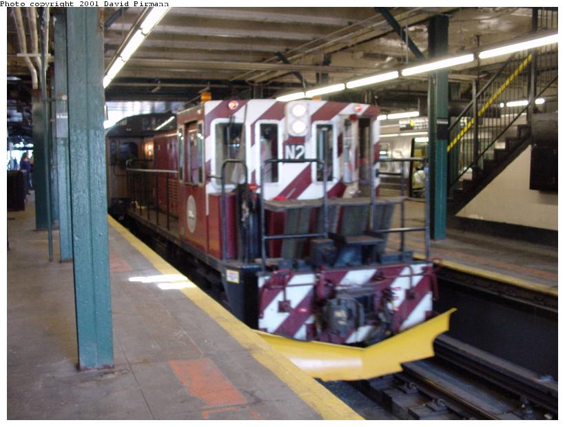 (75k, 820x620)<br><b>Country:</b> United States<br><b>City:</b> New York<br><b>System:</b> New York City Transit<br><b>Line:</b> BMT West End Line<br><b>Location:</b> 9th Avenue <br><b>Route:</b> Fan Trip<br><b>Car:</b> R-47 (SBK) Locomotive  N2 <br><b>Photo by:</b> David Pirmann<br><b>Date:</b> 8/26/2001<br><b>Viewed (this week/total):</b> 7 / 3538