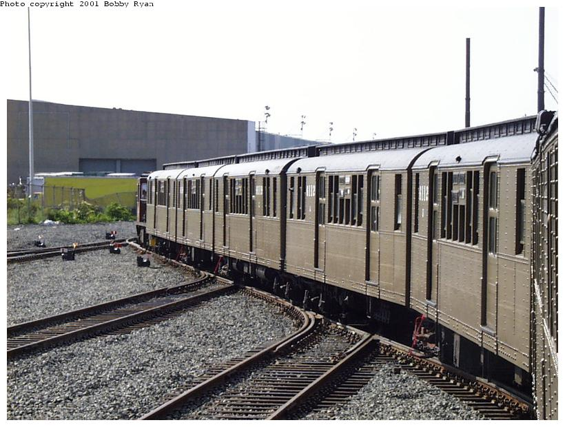 (97k, 820x620)<br><b>Country:</b> United States<br><b>City:</b> New York<br><b>System:</b> New York City Transit<br><b>Line:</b> South Brooklyn Railway<br><b>Location:</b> SBK Yard (2nd Ave at 38th St.) (SBK)<br><b>Route:</b> Fan Trip<br><b>Car:</b> BMT D-Type Triplex 6112 <br><b>Photo by:</b> Bobby Ryan<br><b>Date:</b> 8/26/2001<br><b>Viewed (this week/total):</b> 1 / 3422