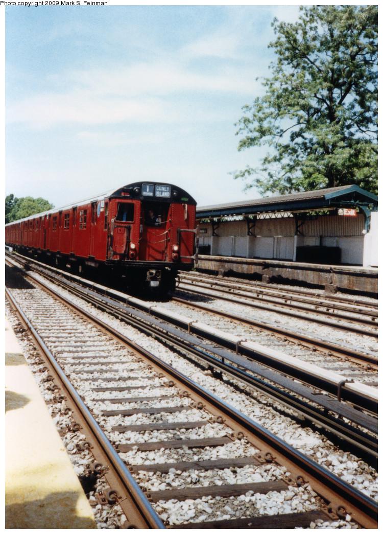 (319k, 750x1045)<br><b>Country:</b> United States<br><b>City:</b> New York<br><b>System:</b> New York City Transit<br><b>Line:</b> BMT Brighton Line<br><b>Location:</b> Avenue J <br><b>Route:</b> Fan Trip<br><b>Car:</b> R-30 (St. Louis, 1961) 8408 <br><b>Photo by:</b> Mark S. Feinman<br><b>Date:</b> 5/30/1993<br><b>Viewed (this week/total):</b> 3 / 5703