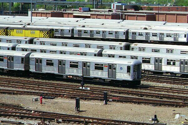 (173k, 600x400)<br><b>Country:</b> United States<br><b>City:</b> New York<br><b>System:</b> New York City Transit<br><b>Location:</b> Coney Island Yard<br><b>Car:</b> R-40M (St. Louis, 1969)  4450 <br><b>Photo by:</b> Sidney Keyles<br><b>Date:</b> 5/22/1999<br><b>Notes:</b> View of yard<br><b>Viewed (this week/total):</b> 0 / 3942