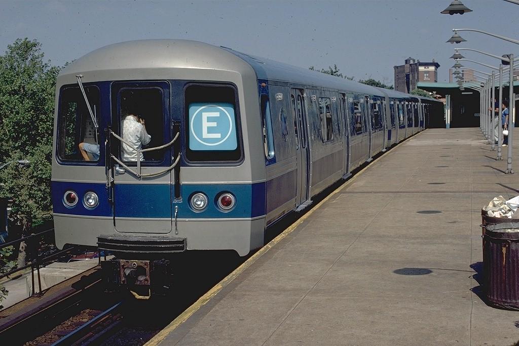 (214k, 1024x684)<br><b>Country:</b> United States<br><b>City:</b> New York<br><b>System:</b> New York City Transit<br><b>Line:</b> IND Rockaway<br><b>Location:</b> Mott Avenue/Far Rockaway <br><b>Route:</b> E<br><b>Car:</b> R-44 (St. Louis, 1971-73)  <br><b>Photo by:</b> Phil Hom<br><b>Collection of:</b> Joe Testagrose<br><b>Viewed (this week/total):</b> 2 / 5873