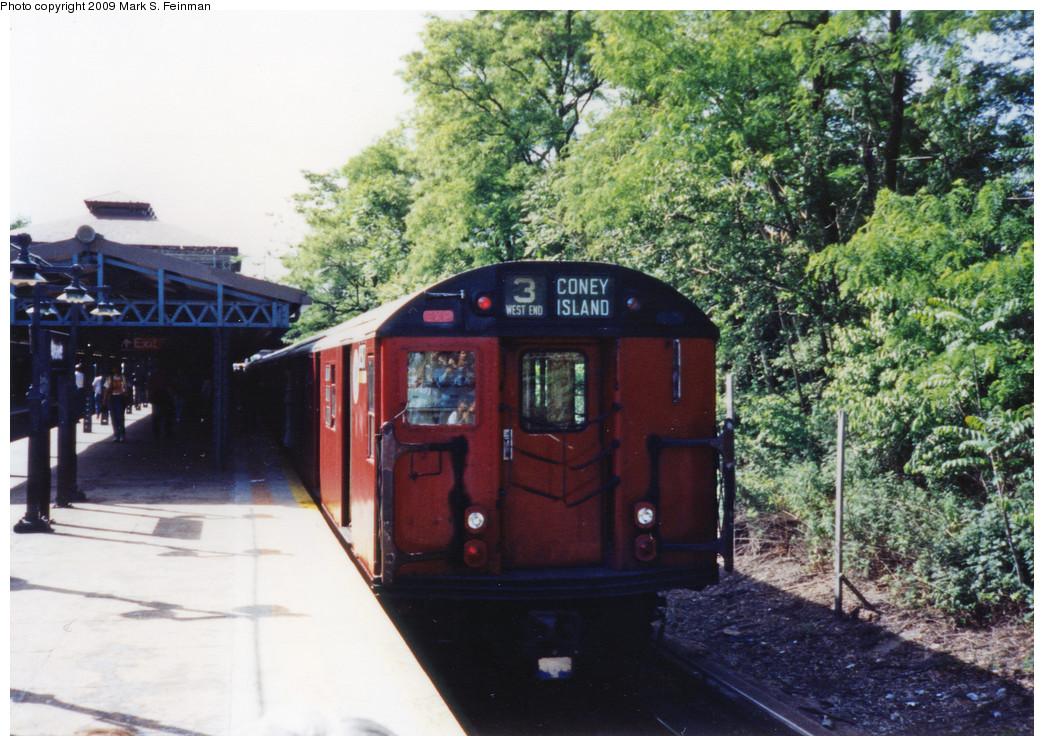 (300k, 1044x746)<br><b>Country:</b> United States<br><b>City:</b> New York<br><b>System:</b> New York City Transit<br><b>Line:</b> BMT West End Line<br><b>Location:</b> 9th Avenue <br><b>Route:</b> Fan Trip<br><b>Car:</b> R-30 (St. Louis, 1961) 8317 <br><b>Photo by:</b> Mark S. Feinman<br><b>Date:</b> 5/30/1993<br><b>Viewed (this week/total):</b> 1 / 6381