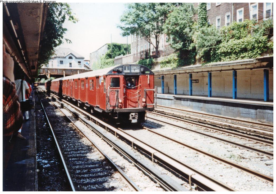 (349k, 1044x734)<br><b>Country:</b> United States<br><b>City:</b> New York<br><b>System:</b> New York City Transit<br><b>Line:</b> BMT Brighton Line<br><b>Location:</b> Cortelyou Road <br><b>Route:</b> Fan Trip<br><b>Car:</b> R-30 (St. Louis, 1961) 8408 <br><b>Photo by:</b> Mark S. Feinman<br><b>Date:</b> 5/30/1993<br><b>Viewed (this week/total):</b> 2 / 7186