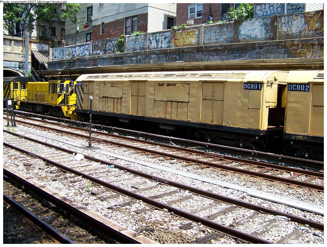 (345k, 1044x788)<br><b>Country:</b> United States<br><b>City:</b> New York<br><b>System:</b> New York City Transit<br><b>Line:</b> BMT Sea Beach Line<br><b>Location:</b> Bay Parkway (22nd Avenue) <br><b>Route:</b> Work Service<br><b>Car:</b> R-123 Continuous Welded Rail Handler (R17/R21/R22 Rebuilds) DCR01 <br><b>Photo by:</b> Michael Hodurski<br><b>Date:</b> 7/26/2007<br><b>Viewed (this week/total):</b> 1 / 2888