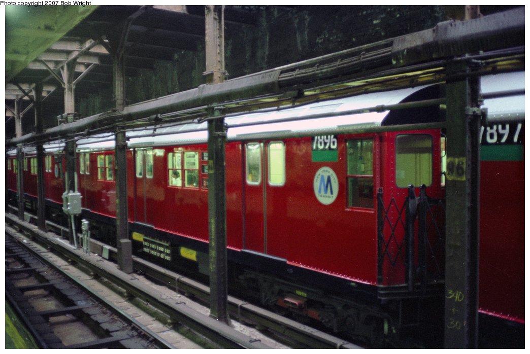 (137k, 1044x698)<br><b>Country:</b> United States<br><b>City:</b> New York<br><b>System:</b> New York City Transit<br><b>Line:</b> IRT West Side Line<br><b>Location:</b> 96th Street <br><b>Route:</b> 2<br><b>Car:</b> R-28 (American Car & Foundry, 1960-61) 7896 <br><b>Photo by:</b> Bob Wright<br><b>Date:</b> 5/24/1987<br><b>Viewed (this week/total):</b> 2 / 4828
